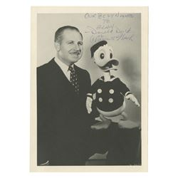 Clarence Nash & Donald Duck Signed Photo.