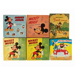 Collection of (6) Boxes of Disney Children's Hankies.