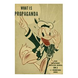 Donald Duck What is Propaganda WWII Booklet.