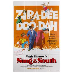 Signed Song of the South Re-Release Poster.