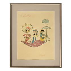 Original The Three Caballeros Drawing by Del Connell.