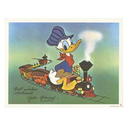 Donald Duck Postcard Signed by Yale Gracey.