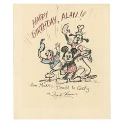 Original Mickey & Friends Drawing by Frank Thomas.