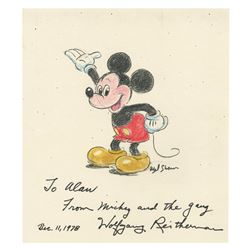 Hand-Colored Mickey Mouse by Wolfgang Reitherman.