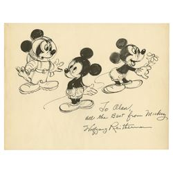 Original Mickey Mouse Drawing By Wolfgang Reitherman.
