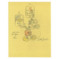 Mickey Donald & Goofy Drawing by Ollie Johnston.