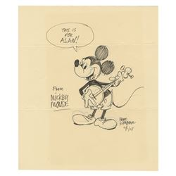 Original Mickey Mouse Drawing by Ward Kimball.