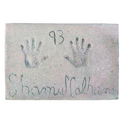Shamus Culhane Cement Handprint & Signature.