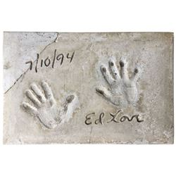 Ed Love Cement Handprint & Signature.