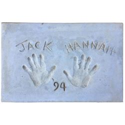 Jack Hannah Cement Handprint & Signature.