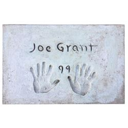 Joe Grant Cement Handprint & Signature.