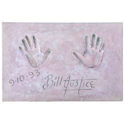 Bill Justice Cement Handprint & Signature.