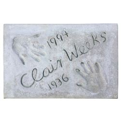 Clair Weeks Cement Handprint & Signature.