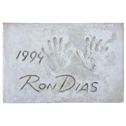Ron Dias Cement Handprint & Signature.
