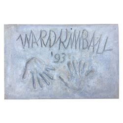 Ward Kimball Cement Handprint & Signature.