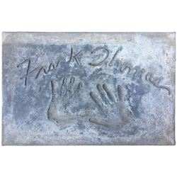 Frank Thomas Cement Handprint & Signature.