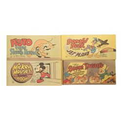 Set of (4) Walt Disney Pocket-Size Comic Books.