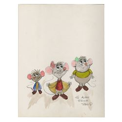 Original Cinderella Mice Drawing by Philip Duncan.