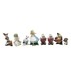 Set of (8) Alice in Wonderland Evan K. Shaw Figurines.