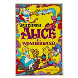 Alice in Wonderland Re-Release Poster.