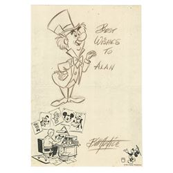 Original Mad Hatter Drawing by Bill Justice.