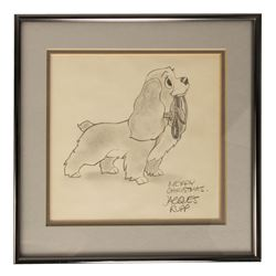 Original Lady Drawing by Jacques Rupp.