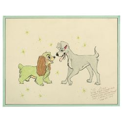 Original Lady and the Tramp Drawing by Lance Nolley.