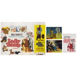 Set of (4) Lady and the Tramp Exhibitor Items.