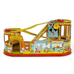 Disneyland Wind-Up Tin Rollercoaster Toy.