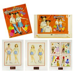 Complete Mouseketeers Cut Outs Artwork & Signed Book.