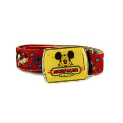 Mickey Mouse Club Red Elastic Belt with Metal Buckle.
