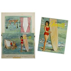 Original Annette Cut-Out Doll Book Artwork.