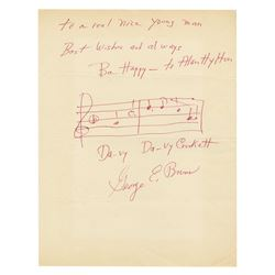 George Bruns Signed Davy Crockett Theme.