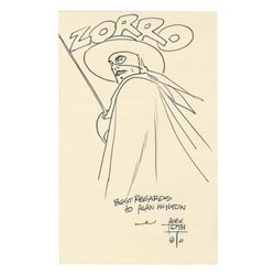 Original Zorro Drawing by Alex Toth.