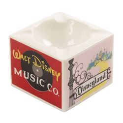 Walt Disney Studios Ceramic Ashtray.