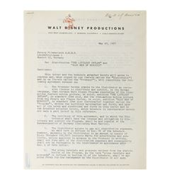 Roy Disney Signed Distribution Contract.