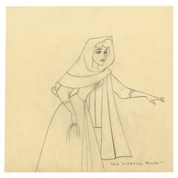Original Sleeping Beauty Production Drawing.