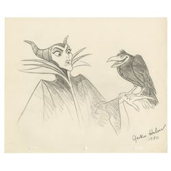 Original Maleficent & Diablo Drawing by Jack Huber.