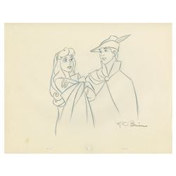 Original Sleeping Beauty Drawing by Ken O'Brien.