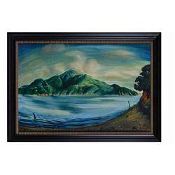 Original Eyvind Earle Oil Painting.