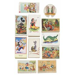 Collection of (191) 1930s-1950s Walt Disney Postcards.