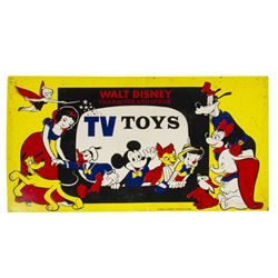 Walt Disney Character TV Toys Display Sign.
