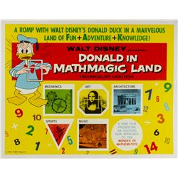 Donald in Mathmagic Land Half-Sheet Poster.