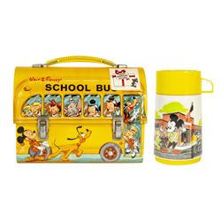 Aladdin Industries Walt Disney School Bus Lunch Box.