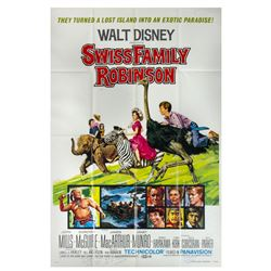 Signed Swiss Family Robinson Re-Release Poster.