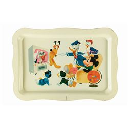 Tin-Litho Wonderful World of Color TV Tray.