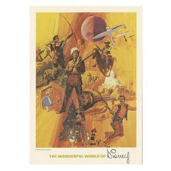 Walt Disney Productions Postcard Signed by Emile Kuri.