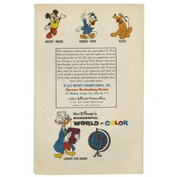 Walt Disney Productions Character Merchandising Packet.