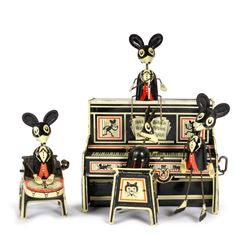 Marx MerryMakers Mickey Mouse Inspired Tin Toy.