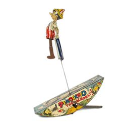 """Pinocchio the Acrobat!"" Tin Toy by Marx."